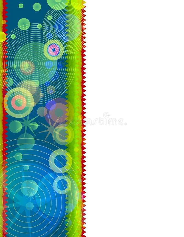 Retro- Weihnachtsrand-Blau lizenzfreie abbildung