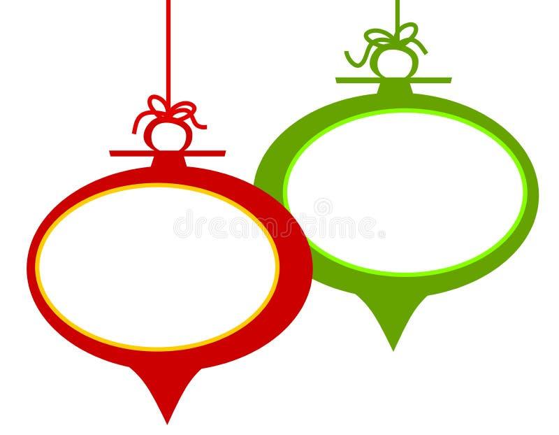 Retro- Weihnachtsverzierung-Feld lizenzfreie abbildung