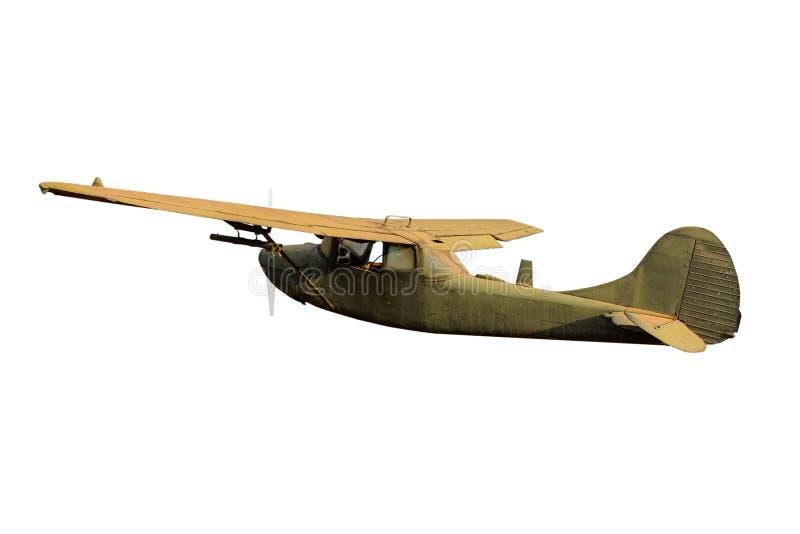 Retro- Weinlesekampfflugzeug stockfotografie