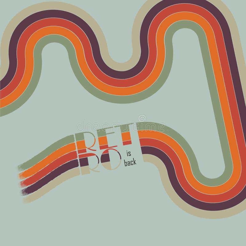 Retro- Weinleseschleifen-Hintergrunddesign vektor abbildung