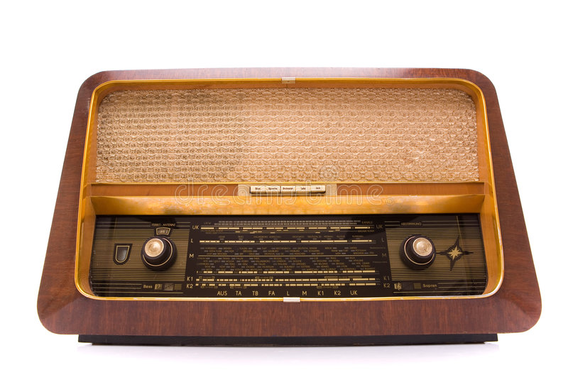 retro white för radio royaltyfri fotografi