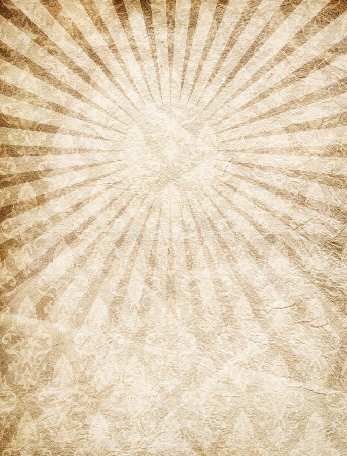 Retro wijnoogst, stralen, document textuur, grunge, ruw beige, bruin, schaaft royalty-vrije illustratie