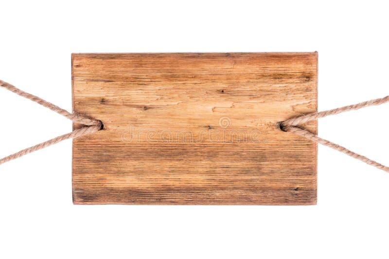 Retro wijzer van licht hout wordt gemaakt dat Geïsoleerdj op witte achtergrond royalty-vrije stock foto's