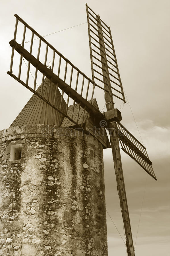 Retro- Windmühle lizenzfreies stockbild