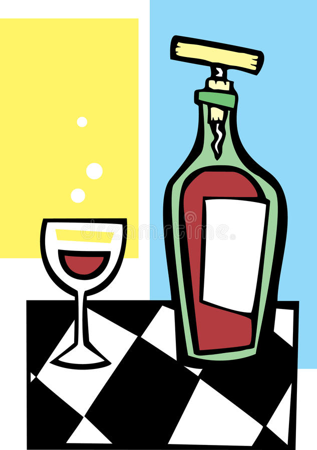 Free Retro Wine And Glass 2 Stock Photos - 10604253