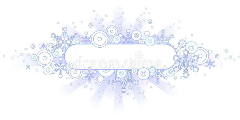Download Retro Winter Banner stock vector. Image of decoration - 1385497