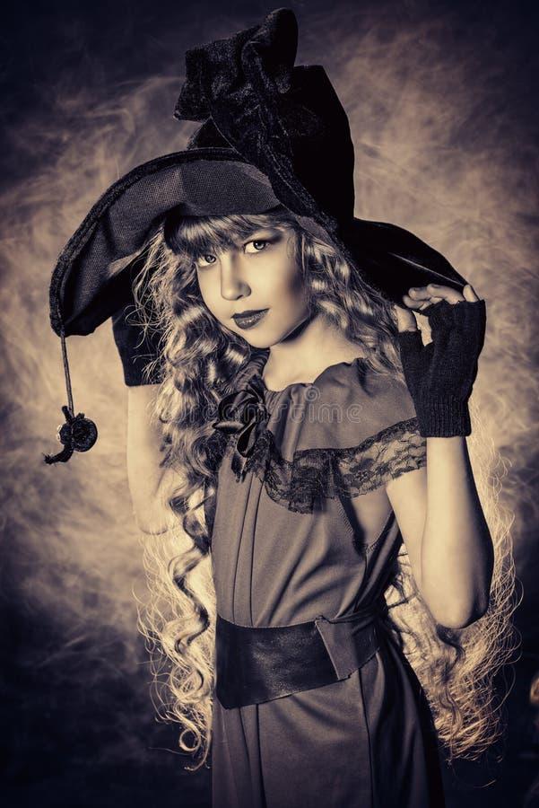 Retro witch stock image