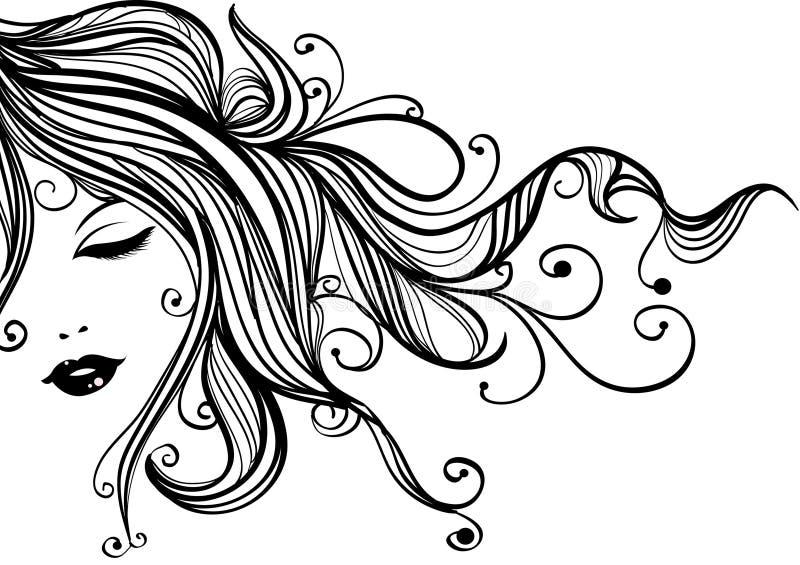 Download Retro woman stock illustration. Illustration of hair - 12548086