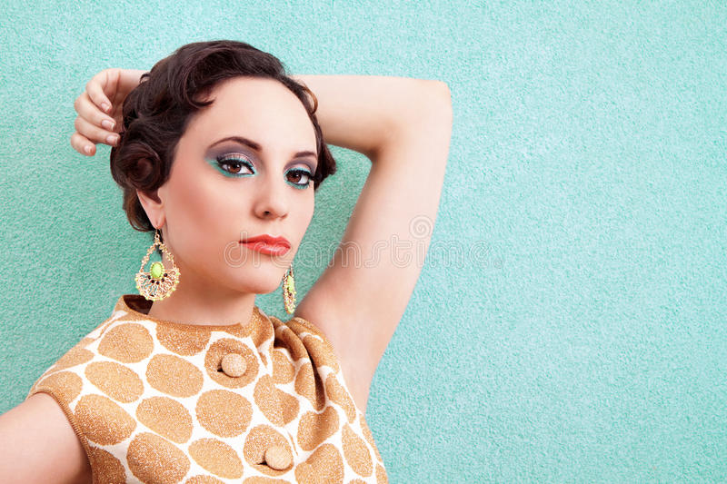 Retro Woman royalty free stock image