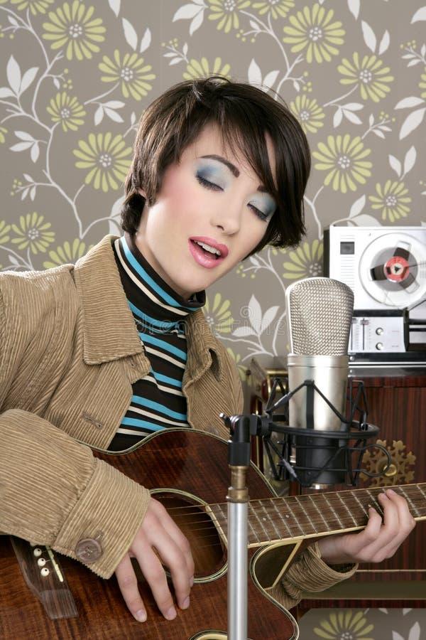 Download Retro Woman Musician Guitar Player Vintage Stock Photo - Image: 18276382
