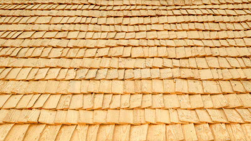 Retro Wood-chip Roof Stock Photo