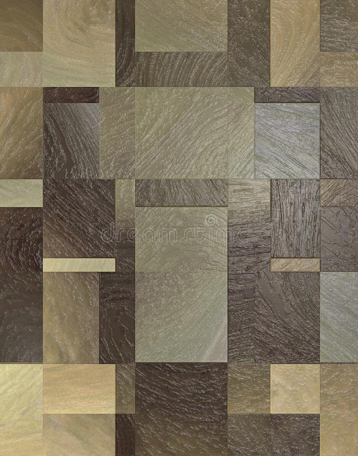 Retro Wood tegelplattadurk royaltyfria bilder