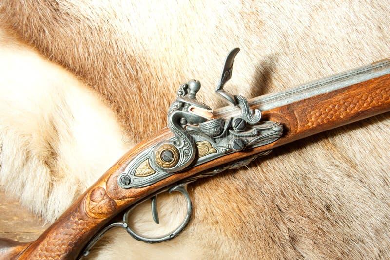 Retro wooden rifle stock photography