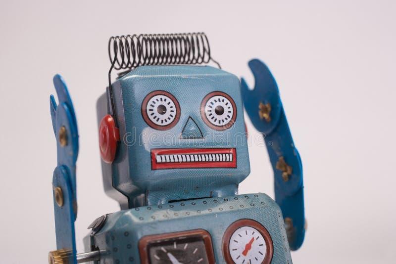 Retro zabawkarski robot zdjęcie stock