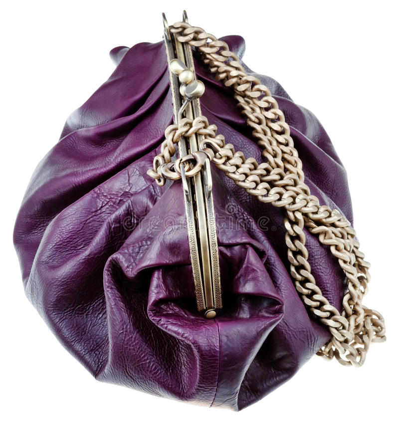 Retro zak van het stijlleer royalty-vrije stock afbeelding