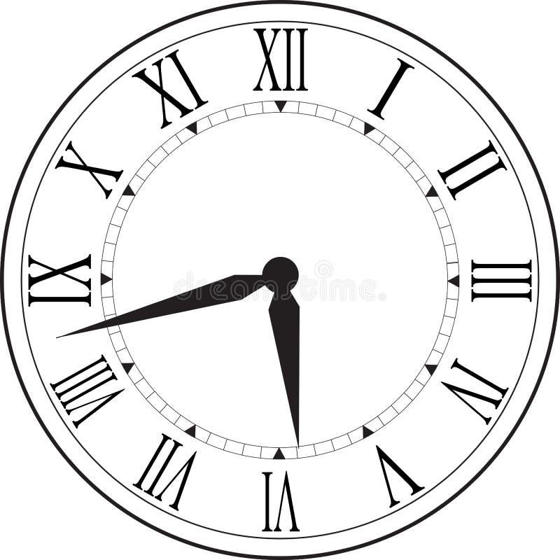 Retro zegar z Romańską tarczą zdjęcia royalty free