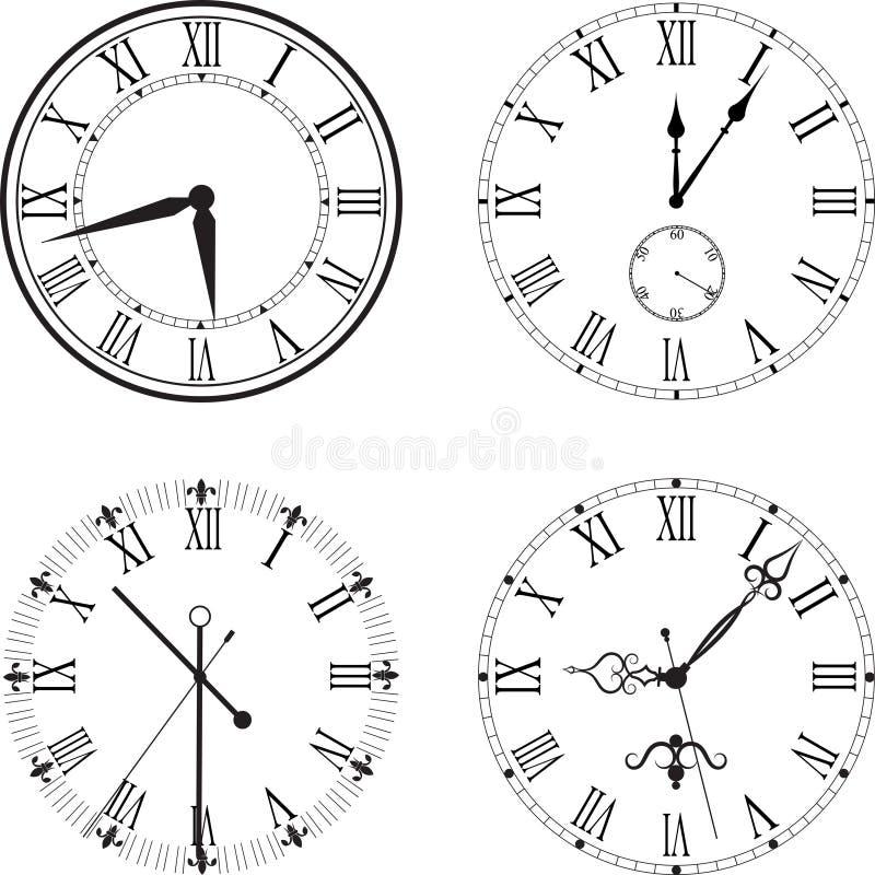 Retro zegar z Romańską tarczą fotografia royalty free