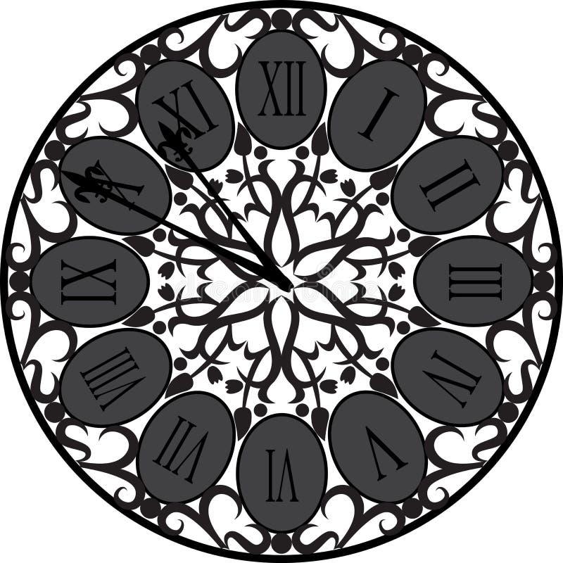 Retro zegar z Romańską tarczą obraz stock