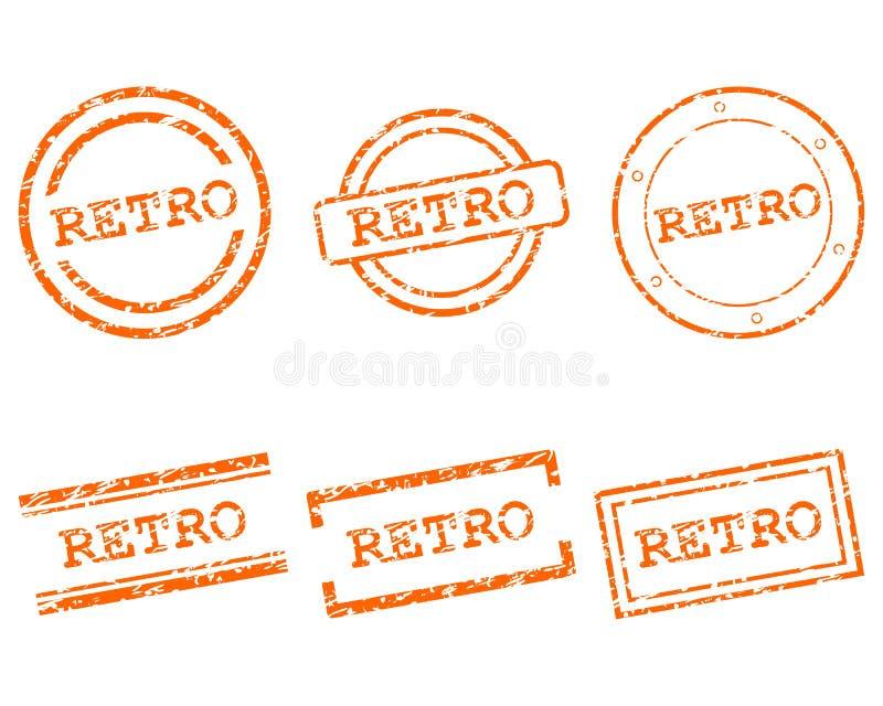 Retro zegels vector illustratie