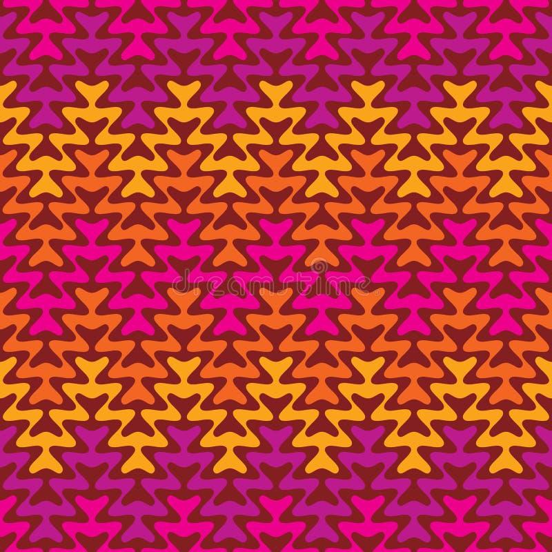 Retro zigzag arrotondato illustrazione vettoriale