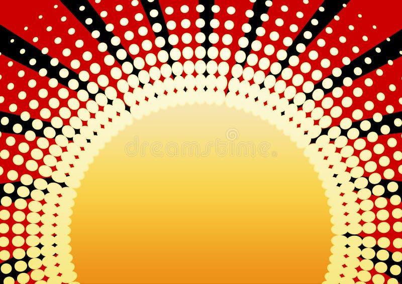 Retro zon vector illustratie