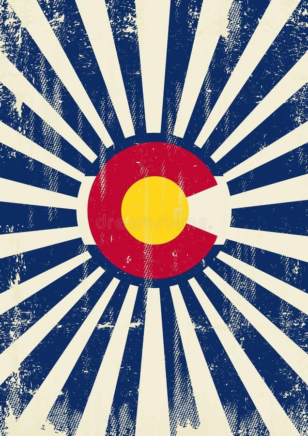 Retro zonnestralen van Colorado vector illustratie
