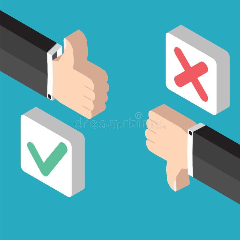 Retroalimentación positiva y voto negativo libre illustration