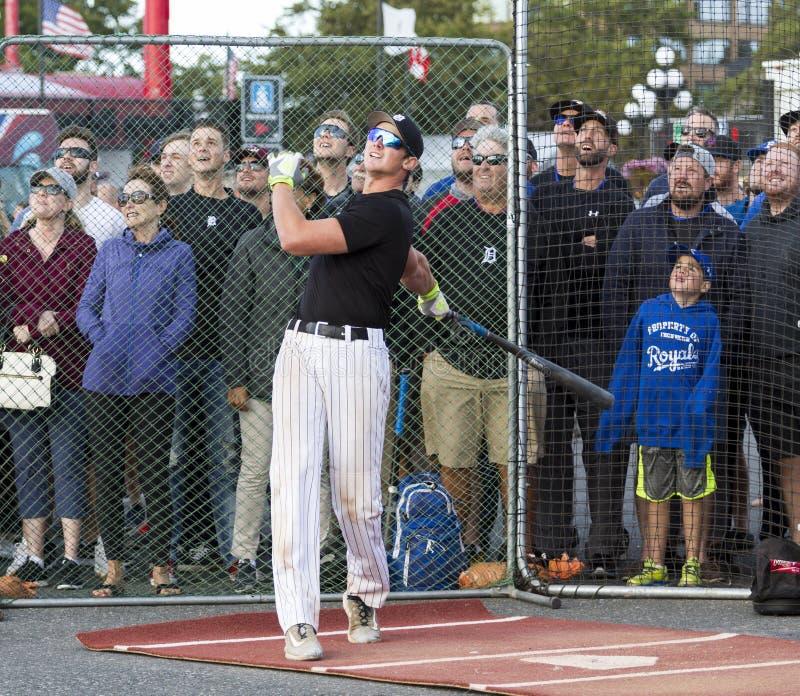 Retrocede fora nacionais superiores de Canadá Men's do basebol fotos de stock