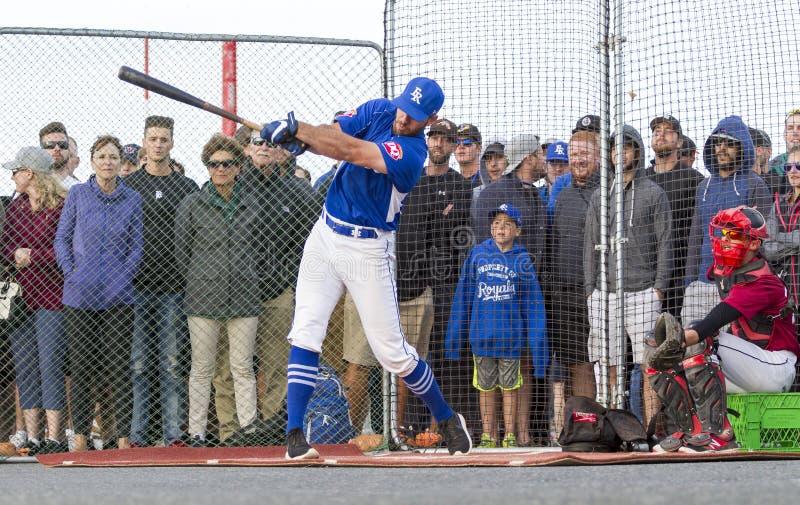 Retrocede fora nacionais superiores de Canadá Men's do basebol imagens de stock
