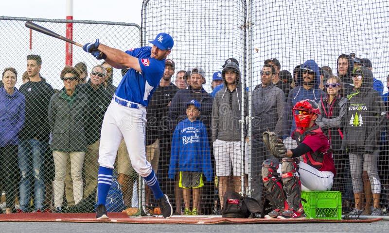 Retrocede fora nacionais superiores de Canadá Men's do basebol imagem de stock royalty free