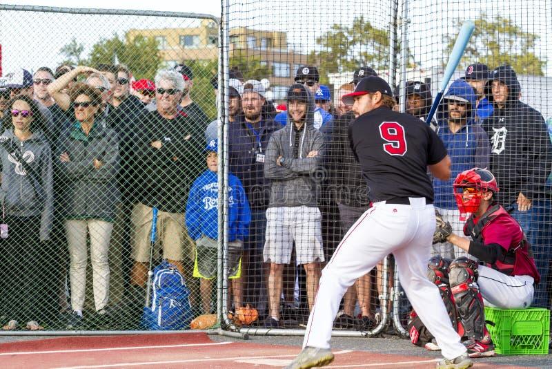 Retrocede fora nacionais superiores de Canadá Men's do basebol fotos de stock royalty free