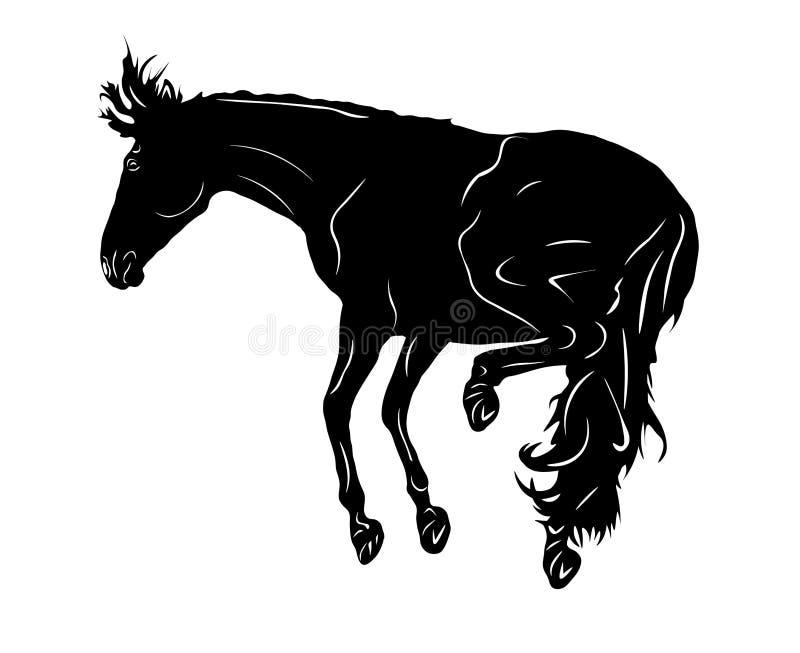 Retroceso con el pie de los caballos stock de ilustración