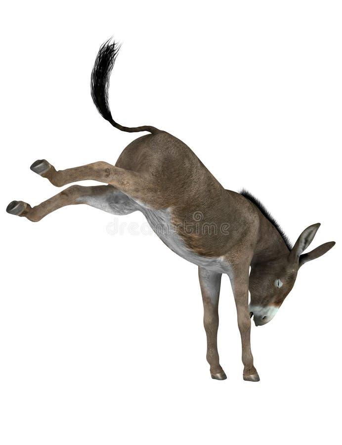 Retroceso con el pie del burro ilustración del vector