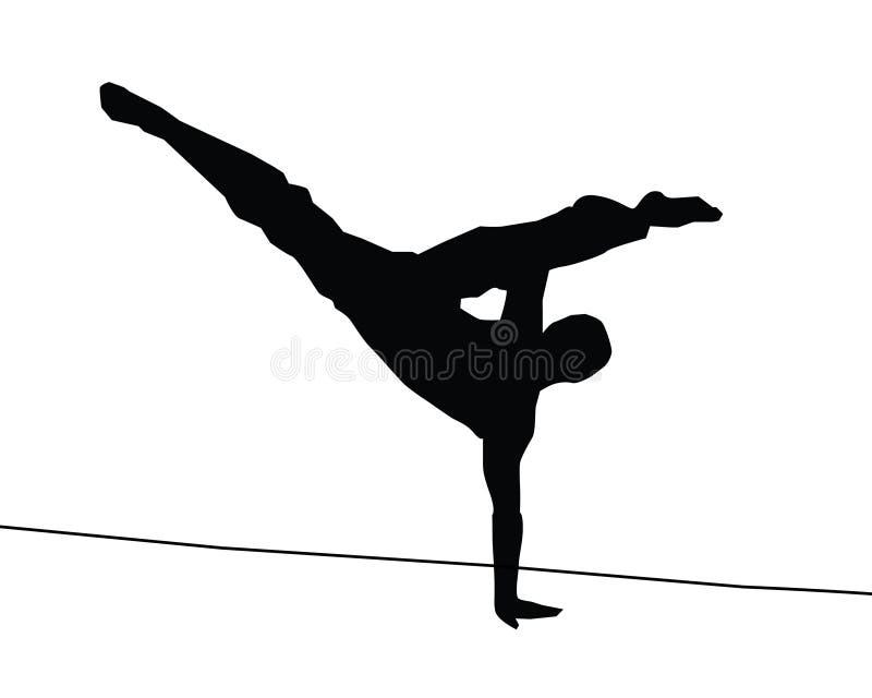 Retroceso de Capoeira ilustración del vector