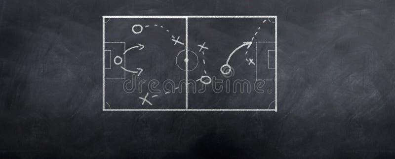 Retroceso de la esquina del fútbol ilustración del vector