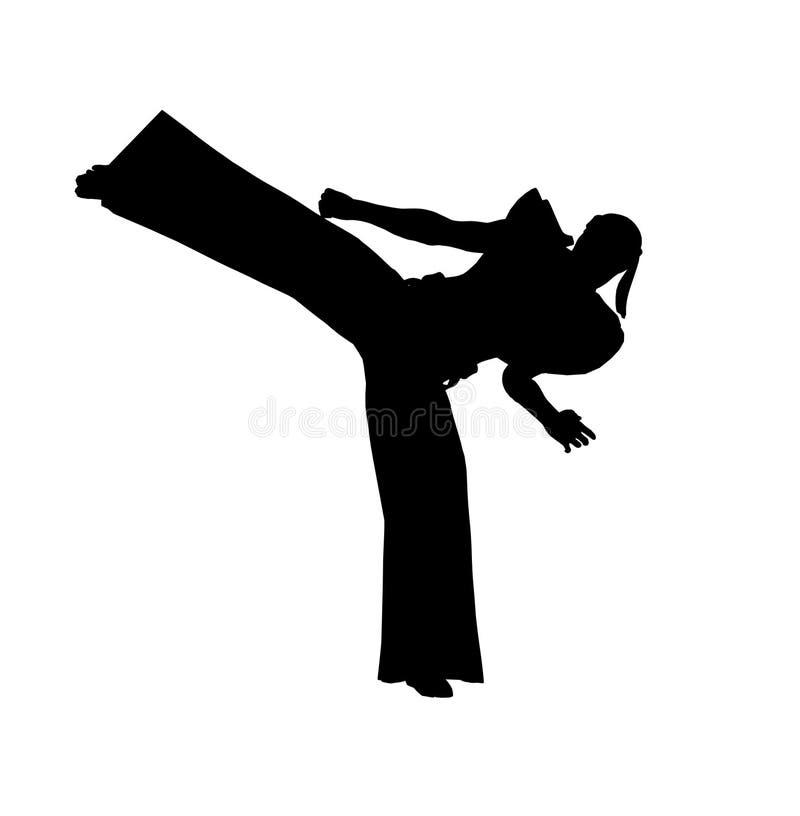 Retroceso de Ninja stock de ilustración