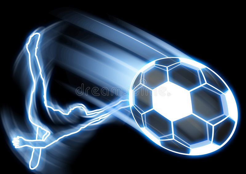 Retroceso del balón de fútbol ilustración del vector