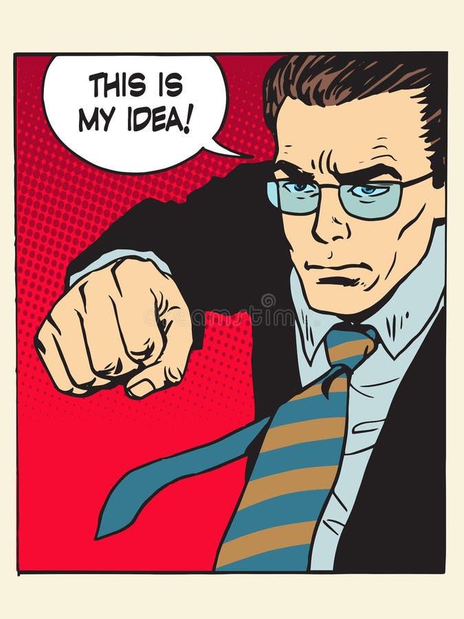 Retroceso del puño de la lucha de Copyright mi proceso creativo de la idea stock de ilustración