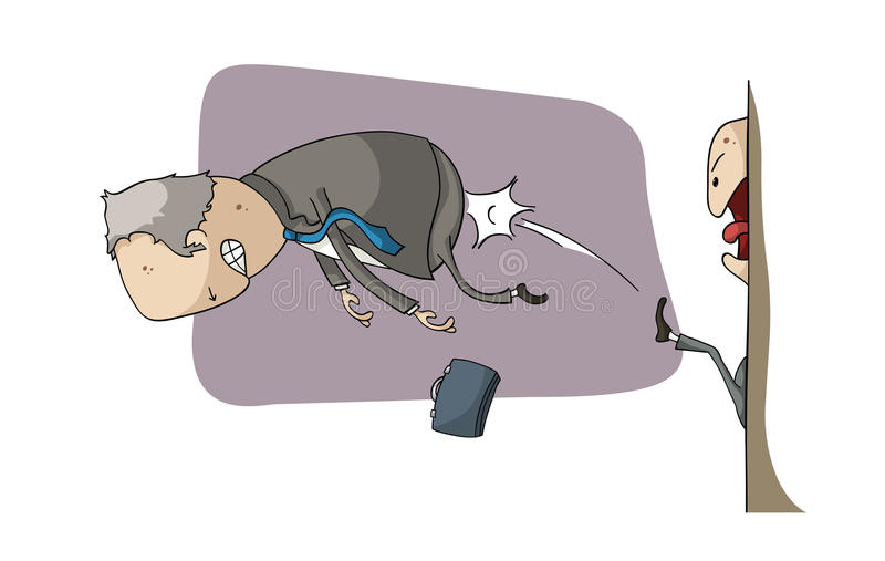 Retrocesso afastado! ilustração do vetor