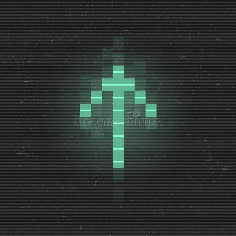 Modern Music Poster With Glitch Triangle: Retrofuturistic Poster With A Cyber Glitch Pixel Circle