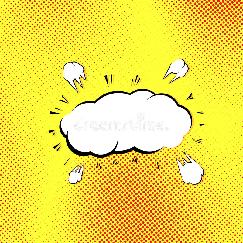 Retrostilpop-arten-Explosions-Dampfwolke Vektor Abbildung ...