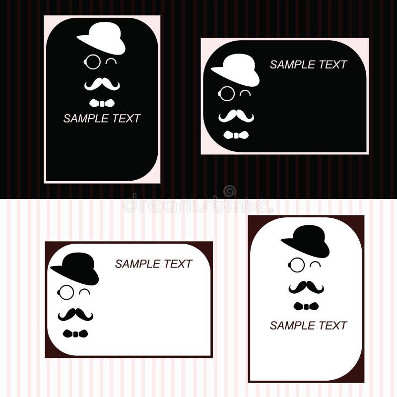 Retrostilvisitenkarte stockbilder