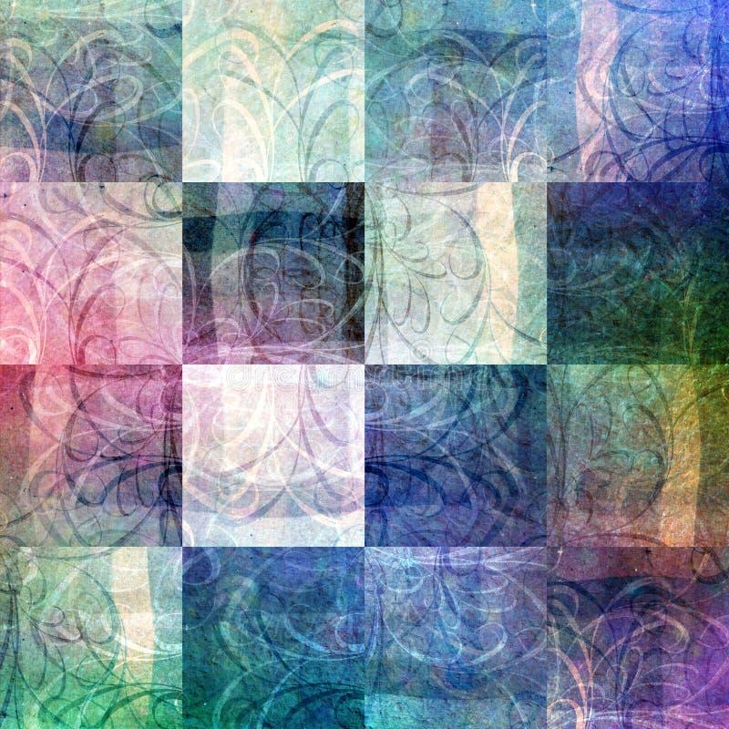 retrotile grunge patchwork ilustracji