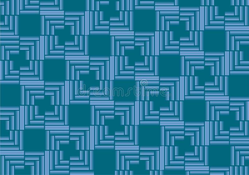 Rettangoli blu di pendenza del fondo astratto di vettore fotografia stock libera da diritti