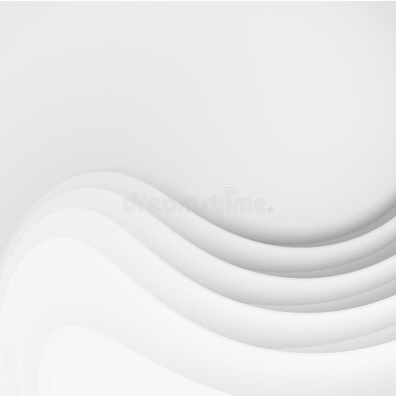 Rettangoli blu 2 Progettazione minima di Wave royalty illustrazione gratis