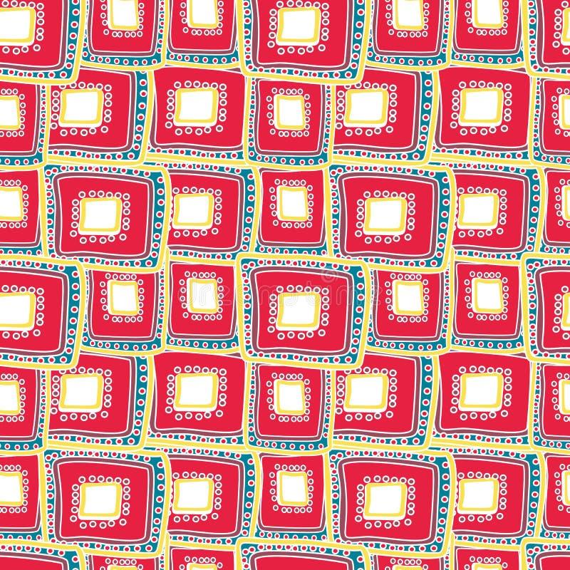 Rettangoli cremisi luminosi che mettono a strati su a vicenda illustrazione di stock
