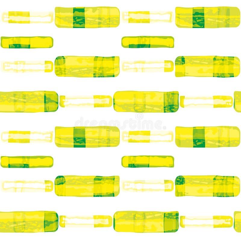 Rettangoli dal sapore caratteristico disegnati a mano che somigliano alla buccia della limetta e del limone Modello geometrico se royalty illustrazione gratis