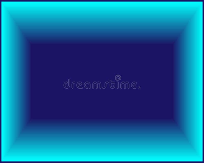 Rettangolo blu luminoso al neon del fondo dell'estratto royalty illustrazione gratis