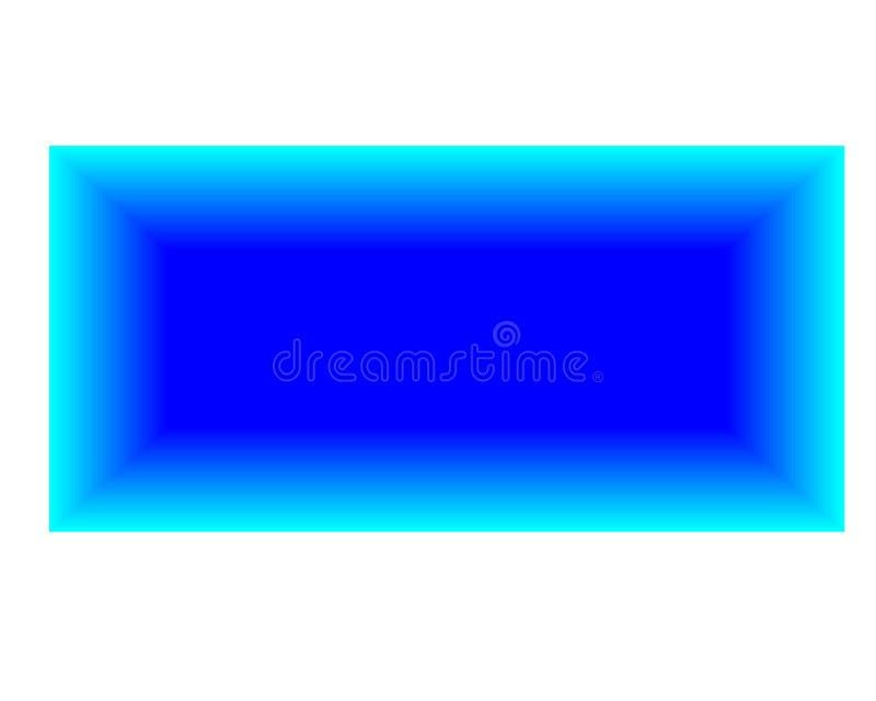Rettangolo blu luminoso del fondo dell'estratto su fondo bianco illustrazione vettoriale