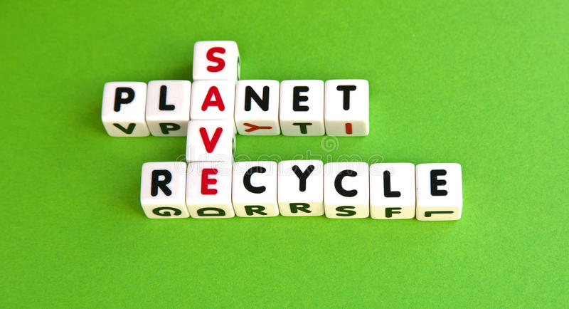 Retten Sie den Planeten stockfoto